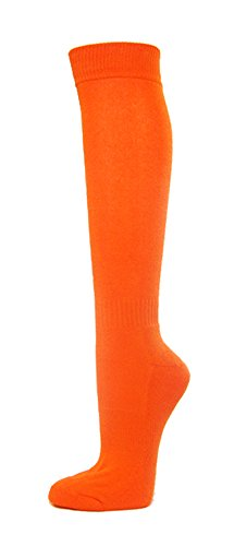Couver Premium Quality Youth/Kids Knee High Cotton Softball, Baseball, Multi-Sports Socks(Light Orange, Youth Large) ()