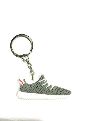 Cute Silicone Yeezy 350 Boost Key Chain Sneaker Keychain Kids Key Rings Key Holder Llaveros Chaveiro Porte Clef