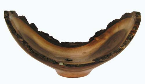 Offering Conch Shell (Wood Bowl / Black Walnut Birdsmouth Curved Offering Bowl)