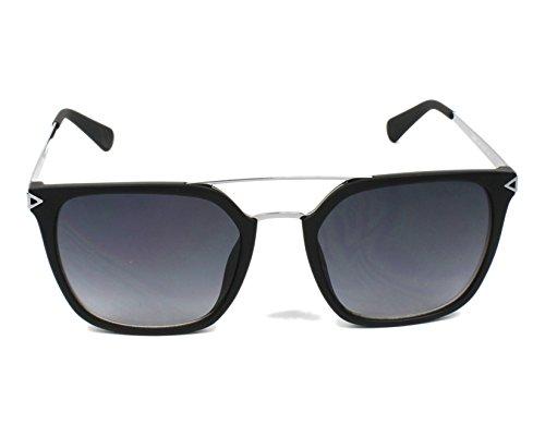 ba15ba5ba0e616 Guess lunettes de soleil carré double pont en noir mat GU6922 02B 53  Gradient Grey Matte ...