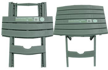 Plastic Folding Patio End Table, 2pc Set (Quick Fold) (Great For Camping
