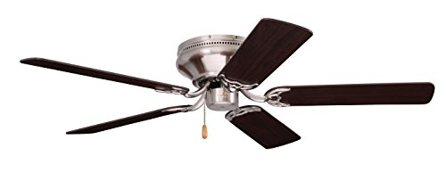 Emerson Ceiling Fans CF804SBS Snugger Low Profile Hugger Ceiling Fan, 42-Inch Blades, Light Kit Adaptable, Brushed Steel Finish Hugger Ceiling Fan