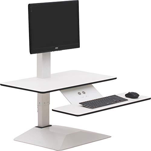 Lorell Sit-to-Stand Electric Desk Multipurpose Desktop Riser