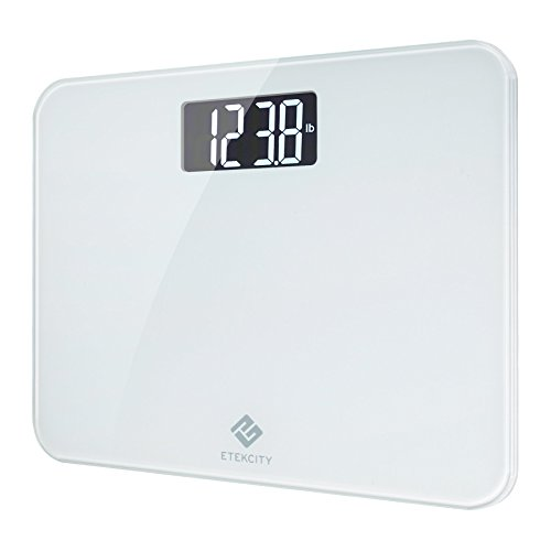 Etekcity Precision Digital Body Weight Bathroom Scale with Easy-to-Read Display, Step-on Technology, 440 Pounds, White