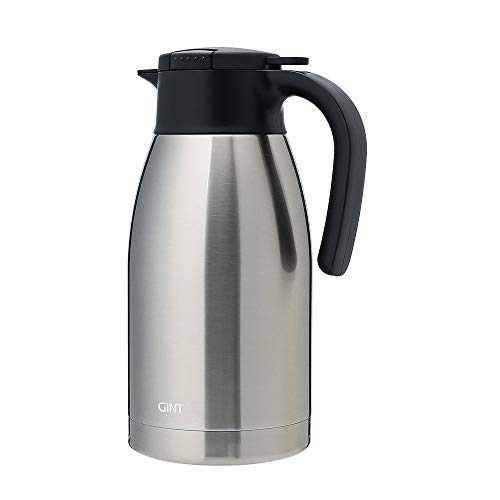 GiNT Stainless Steel Thermal Coffee Carafe with Lid/Double Walled Vacuum Thermos / 12 Hour Heat Retention,1.9L,Sliver by GiNT (Image #7)