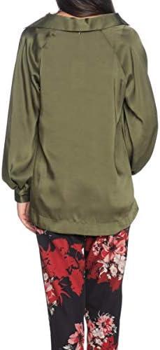 Please Blusa Donna Verde Militare