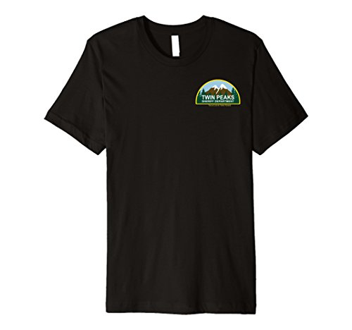 (Twin Peaks Sheriff Department Faux Law Patch Premium T-Shirt)