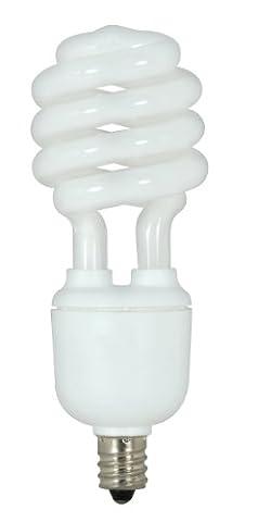 Satco S7365 13-watt 880 Lumens Candelabra T2 Spiral 4100K Light Bulb, Bright White - Candelabra Compact