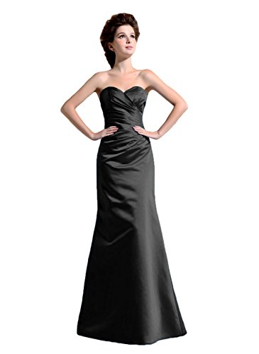 Bridal_Mall - Robe - Trapèze - Sans Manche - Femme -  Noir - 54 plus