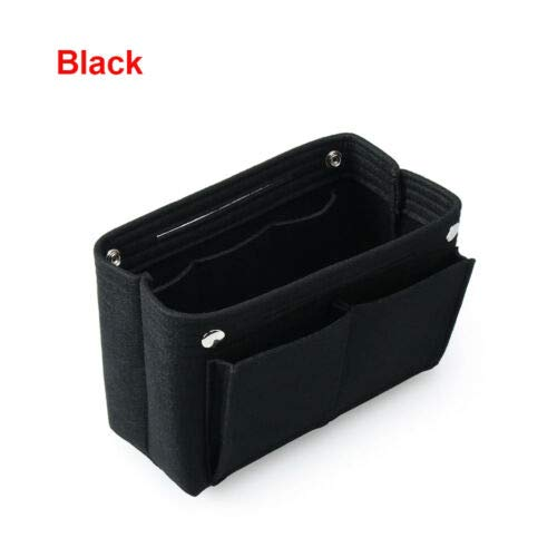 Polyester Storage Multi Pocket Pouch Organizer Toiletry Case Makeup Bag (Color - black) ()
