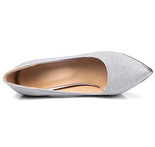 Stiletto Pompe Da Glitter Piattaforma Appuntite Alto Donne 15 Tacco Seraph Festa Scarpe Silver 10 U0xq8PFwyI