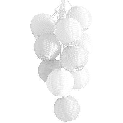 Allsop 30438 Soji Mini Solar String of Ten Lanterns, White