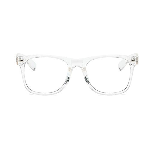 Unisex Blue Light Blocking Glasses Square/Half Frame Eyeglasses Frame Anti Blue Ray for Computer Game ()