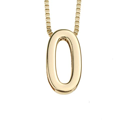 Coolcoco Fashion Metal Gold DIY Letter O Initial Name Pendant Necklace for Women Men Adult Kid]()
