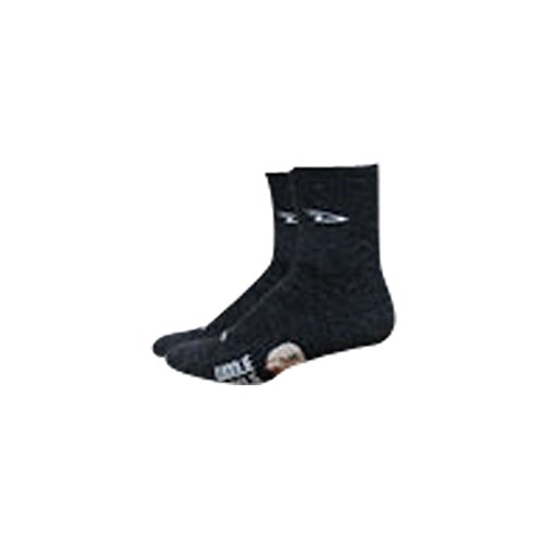 (DEFEET Men's Woolie Boolie 4-Inch Sock, Charcoal, X-Large)
