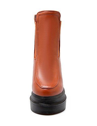 Mujer Cuñas Redonda Eu39 Zapatos us8 A De Xzz Semicuero Uk6 Tacón Botas Plataforma negro Casual Cuña Moda Cn39 C Punta La Vestido Yellow w8EXHSHq