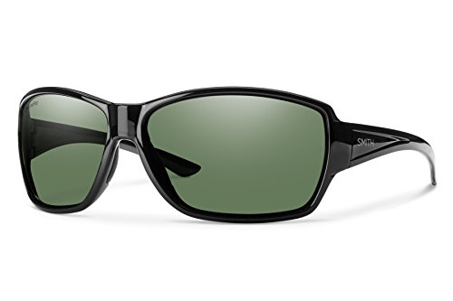 - Smith Optics Women's Pace Chroma Pop Polarized Sunglasses (Gray Green Lens), Black