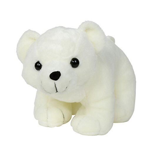 Malltop Polar Bear Plush Doll , Super Lovely Stuffed White Baby Birthday Gift Toy (18x8.6 inches)