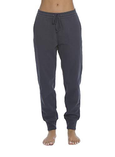 (Barefoot Dreams Malibu Collection Women's Brushed Jersey Jogger, Sweat Pants, GymTrack Bottoms Indigo)