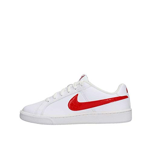 NIKE Women's Court Royale Gymnastics Shoes, White/Light Bone White/ University Red