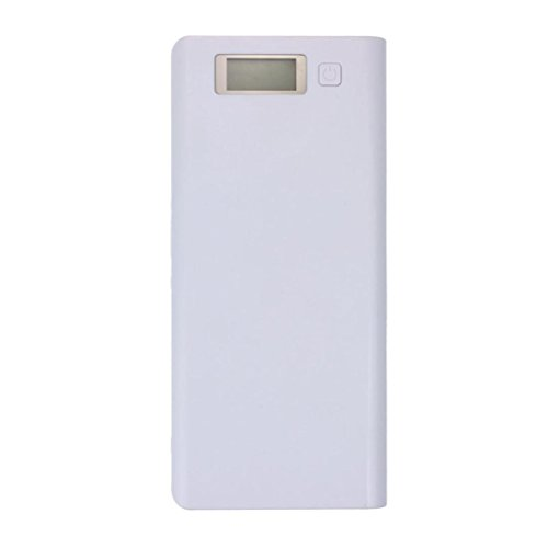 Yoyorule 5V 3A Dual USB 18650 Power Bank Battery Box Charger For iPhone 6 Plus S6 LG SONY NOKIA (White)