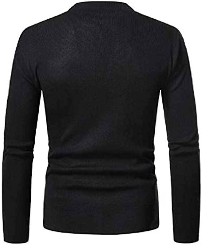 MU2M Mens Casual Slim Open Front Solid Color Knitted Cardigan Coat: Odzież