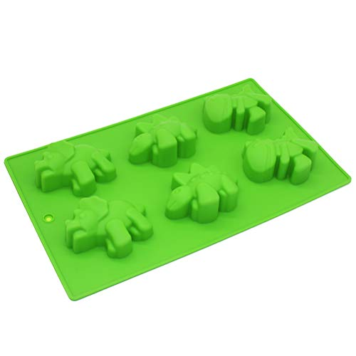 X-Haibei Novelty Dinosaur Chocolate Soap Candle Crayon Silicone Mould Kids Fun Maker