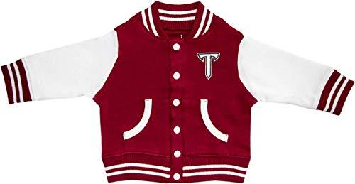 Troy University T Sword Baby and Toddler Varsity Jacket Crimson