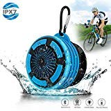 Bluetooth Shower Speaker Waterpoof Shower Radios, Wireless Bathroom Speaker with FM Radios, LED