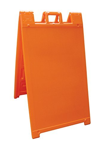 Signicade Portable Sign Stand - outdoor Sidewalk Sign Stand, Color=Orange