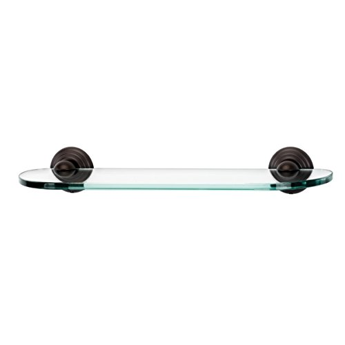 - Alno A9050-18-CHBRZ Embassy Traditional Glass Shelf with Brackets, Bronze