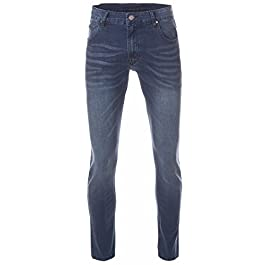 Perruzo Men's Slim Fit Stylish Stretch Jeans