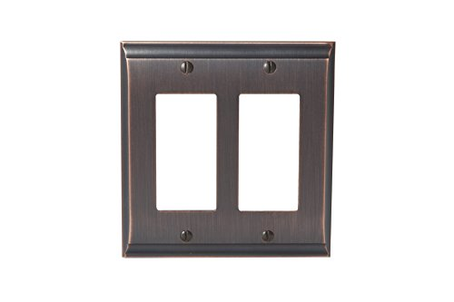 Amerock BP36505ORB Candler 2 Rocker Wall Plate - Oil-Rubbed Bronze