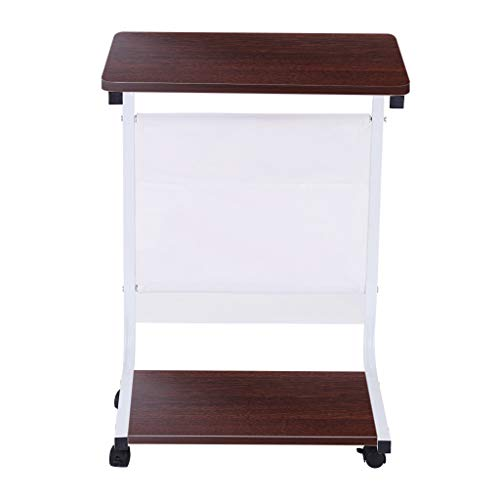 Fauean Tv Tray Removable Side Snack End Couch Console Table Laptop Desk With Storage Bag For Bed Sofa Eating Writing Reading