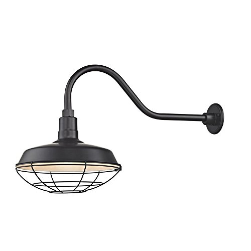 Black Gooseneck Barn Light with 14