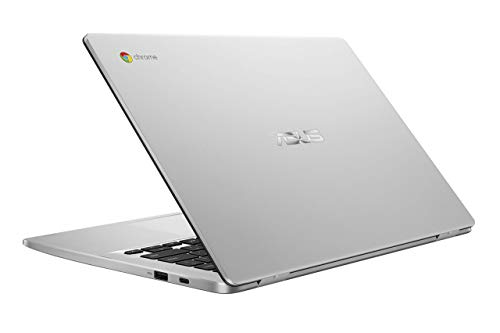 "ASUS Chromebook C423NA-DH02 14.0"" HD NanoEdge display Intel Dual Core Celeron Processor, 4GB RAM, 32GB eMMC storage, silver (Renewed)"