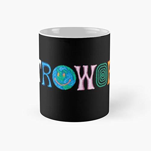 Travis Scott Astroworld Album Logo Shirt Merch Design Mug, travis scott Cup, 11 Ounce Ceramic Mug, Perfect Novelty Gift Mug, Funny Gift Mugs, Funny Coffee Mug 11oz, Tea Cups 11oz