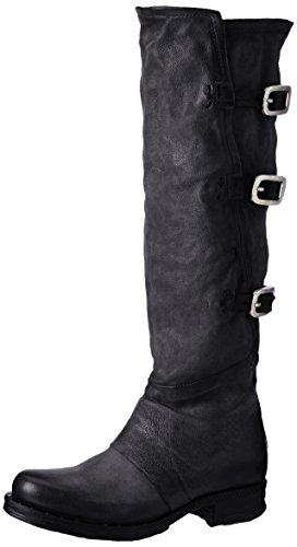 As98 Damen Saintriv Biker Boots Schwarz (nero)