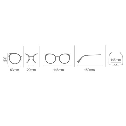 Frame UV Y Moda A Ultra Classic Glasses Gafas Metal sol Gafas Eye Color Espejo Gafas De C Sol Protección Frame de Sol De Women Cat Metal Light Gafas wWxw1UTXqn