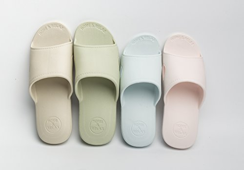 Moodeng Maison Pantoufles Hommes Et Femmes Douche Sandale Pantoufle Intérieure Glisser Chaussures De Bain Unisexe Pour Salle De Bain Bleu