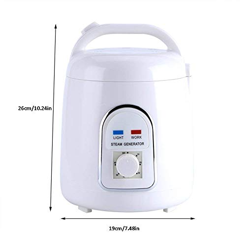 Pettyios Sauna Steamer Portable Pot 1.8 Liters Suit Home SPA Shower 110V (US Plug)