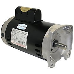 Flange Replacement Motor - Century B2853 Square Flange Pool Pump Replacement Motor AO Smith Electric Motor, 1 hp, 3450rpm, 56Y Frame, 115/230 volts
