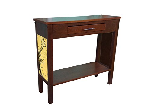 Hokkusai accent table with drawer and shelf | Flowering Plum