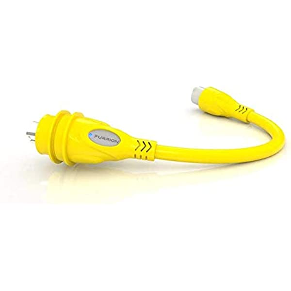 Amazon Com Furrion 15 Amp Female To 30 Amp Male Marine Pigtail Power Adapter With Powersmart Technology Weatherproof Sealing Collar System Yellow Fp1530 Sy Automotive