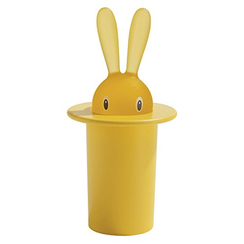 A di Alessi Magic Bunny Toothpick Holder, Yellow ()