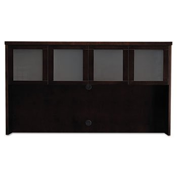 (Mayline Mira Series Wood Veneer Framed Glass Hutch Doors, Espresso)