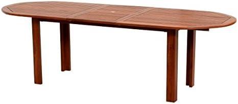 Mesa Ovalada de Madera Natural Mod. Peonía 72 x 180 x 70 cm, mesa ...