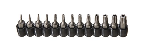 - ARES 70093 | 13-Piece Tamper Resistant Star Bits | S2 CNC'd Security Bits | Storage Holder Included