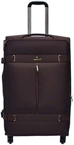 32 inch Business Travel Universal Wheel Abroad Moving Gifts Tjtz Trolley case 20 inch Color : Brown, Size : XL