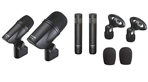 (Tascam TM-DRUMS 4-Piece Condenser Drum Microphone Kit)